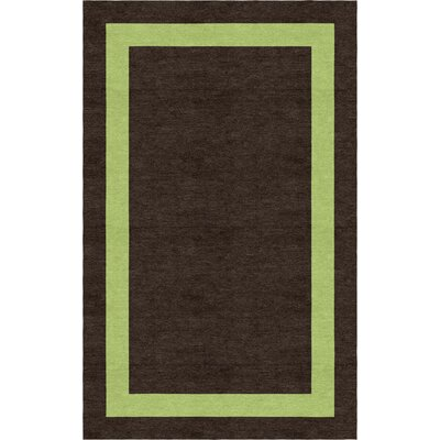 Sooriyakumar Border Hand-Tufted Wool Brown/Green Area Rug Rug Size: Rectangle 6 x 9