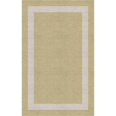Lamond Border Hand-Tufted Wool Beige/Silver Area Rug Rug Size: Rectangle 5 x 8