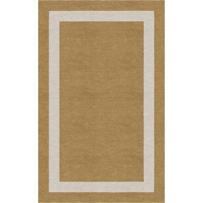Wardadkar Border Hand-Tufted Wool Camel/Silver Area Rug Rug Size: Rectangle 6 x 9