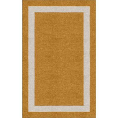 Wluka Border Hand-Tufted Wool Light Brown/Silver Area Rug Rug Size: Rectangle 5 x 8
