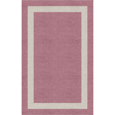 Hewins Border Hand-Tufted Wool Purple/Silver Area Rug Rug Size: Rectangle 5 x 8
