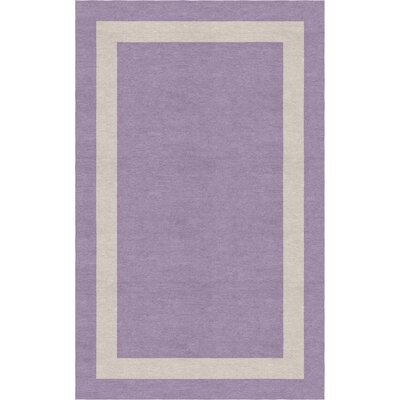 Zwolen Border Hand-Tufted Wool Violet/Silver Area Rug Rug Size: Rectangle 5 x 8