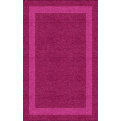 Tacconi Border Hand-Tufted Wool Magenta/Pink Area Rug Rug Size: Rectangle 9 x 12