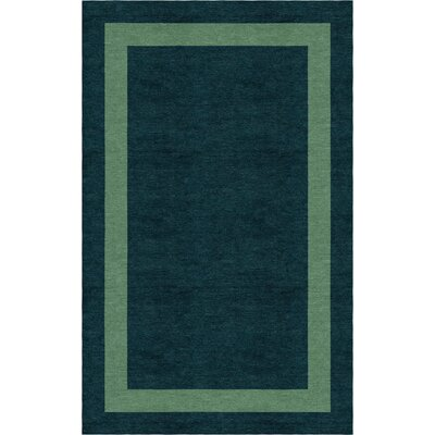 Jennison Border Hand-Tufted Wool Dark Green/Green Area Rug Rug Size: Rectangle 5 x 8