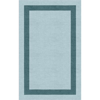 Westbroek Border Hand-Tufted Wool Light Blue/Gray Area Rug Rug Size: Rectangle 5 x 8