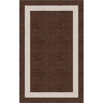 Konjoian Border Hand-Tufted Wool Brown/Silver Area Rug Rug Size: Rectangle 9 x 12
