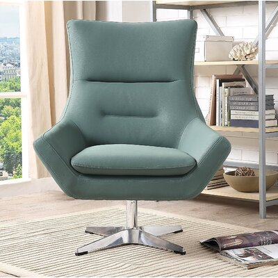 Vivas Contemporary Swivel Armchair Upholstery: Green
