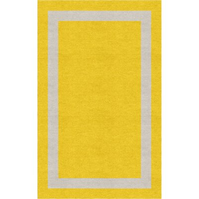 Potashnick Border Hand-Tufted Wool Gold/Silver Area Rug Rug Size: Rectangle 9 x 12