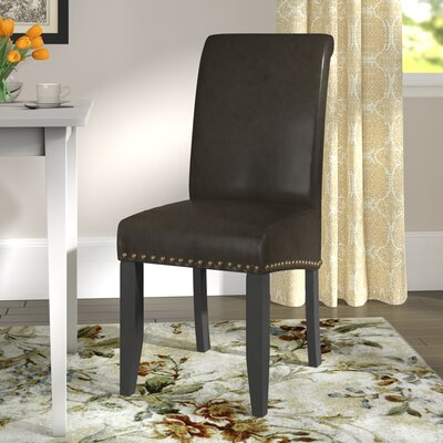 Chesterhill Upholstered Dining Chair Upholstery: Espresso