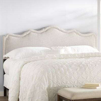 Sevan Upholstered Panel Headboard Size: King, Upholstery: Grayish Beige