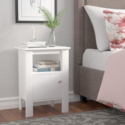 Alexandra Nightstand Color: White
