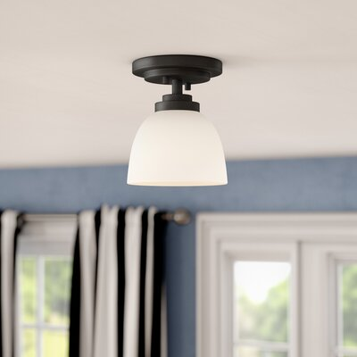 Kepner 1-Light Semi Flush Mount Finish: Bronze