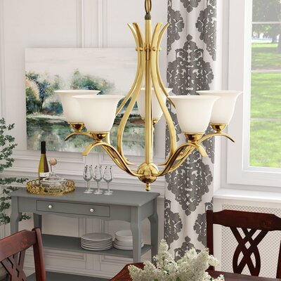 Cayman 5-Light Shaded Chandelier Finish: Antique Brass