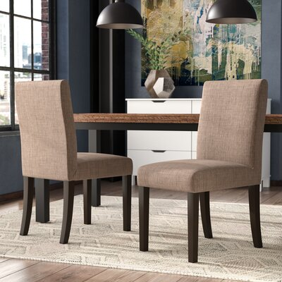 Caverly Parsons Dining Chair Upholstery: Taupe