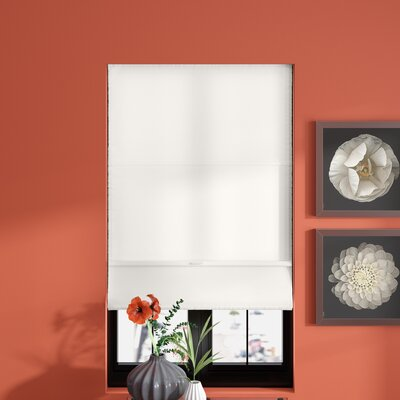 Cordless Magnetic Roman Shade Size: 39 W x 64 L, Color: Allure Powder (Privacy & Light Filtering)
