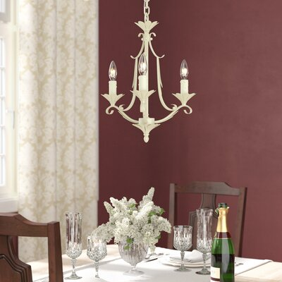 Pucklechurch 3-Light Candle-Style Chandelier Color: Gilded Patina