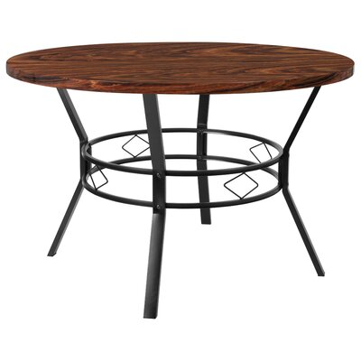 Cianciolo Dining Table Top Color: Chocolate, Size: 29.5 H x 47 W x 47 L
