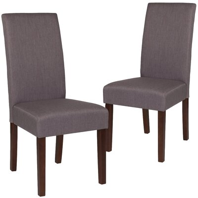 Rayford Upholstered Dining Chair Upholstery Color: Light Gray