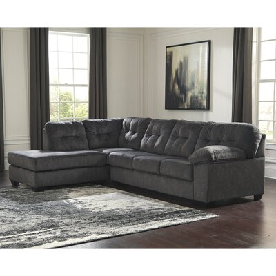 Waldrup Sectional Upholstery Color: Gray