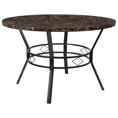 Cianciolo Dining Table Top Color: Espresso, Size: 29.5 H x 45 W x 45 L