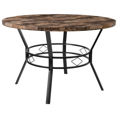 Cianciolo Dining Table Top Color: Brown, Size: 29.5 H x 47 W x 47 L