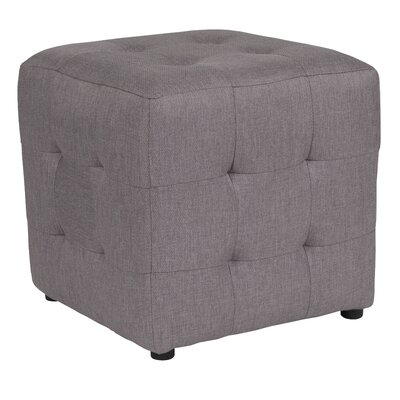 Rayl Tufted Upholstered Cube Ottoman Upholstery: Light Gray