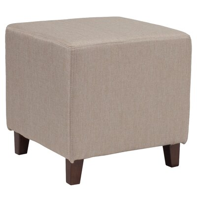 Tade Upholstered Cube Ottoman Upholstery: Beige