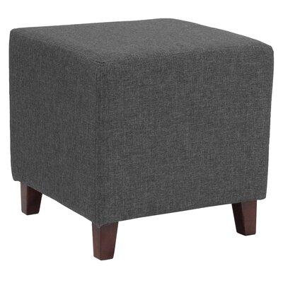 Tade Upholstered Cube Ottoman Upholstery: Dark Gray