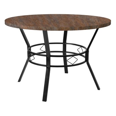 Cianciolo Dining Table Top Color: Distressed Driftwood, Size: 29.5 H x 45 W x 45 L