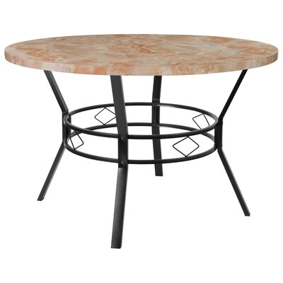 Cianciolo Dining Table Top Color: Orange, Size: 29.5 H x 47 W x 47 L