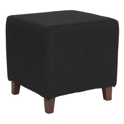Tade Upholstered Cube Ottoman Upholstery: Black