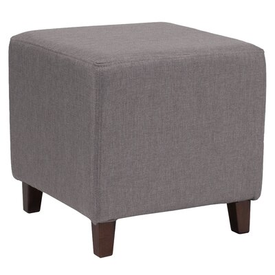 Tade Upholstered Cube Ottoman Upholstery: Light Gray