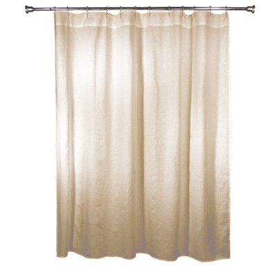 Wheelwright 100% Linen Shower Curtain Color: Natural
