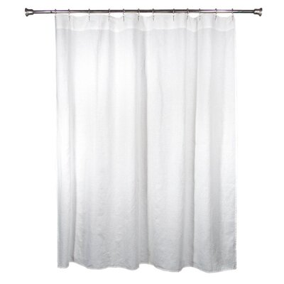 Wheelwright 100% Linen Shower Curtain Color: White