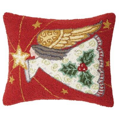 Finley All is Calm Angel Hook Wool Lumbar Pillow