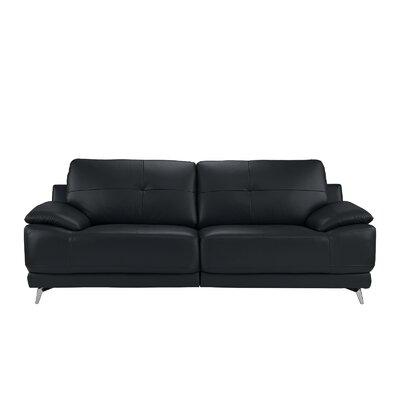 Soelberg Living Room Leather Sofa Upholstery: Dark Blue