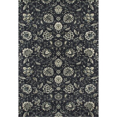Rangel Gray Area Rug Rug Size: Rectangle 92 x 132