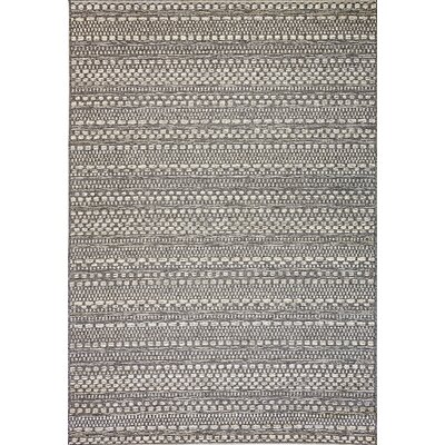 Pennock Light Gray Indoor/Outdoor Area Rug Rug Size: Rectangle 53 x 77