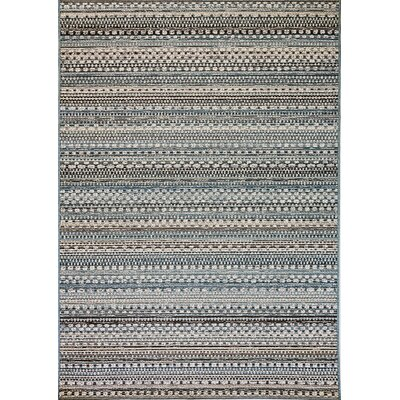 Pennock Beige/Blue Indoor/Outdoor Area Rug Rug Size: Rectangle 67 x 96