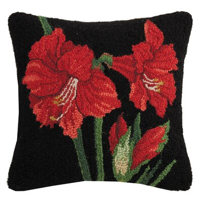 Martinelli Christmas Bloom Hook Wool Throw Pillow