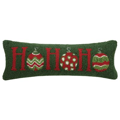 Martelli Ho Ho Ho Hook Wool Lumbar Pillow