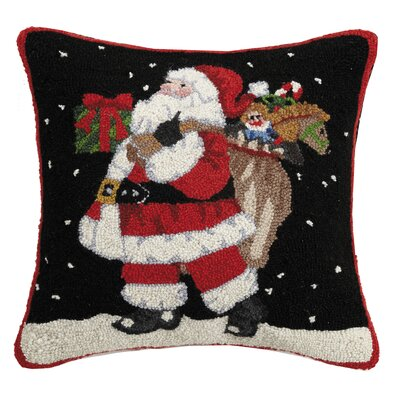 Martel Believe Santa Hook Wool Throw Pillow