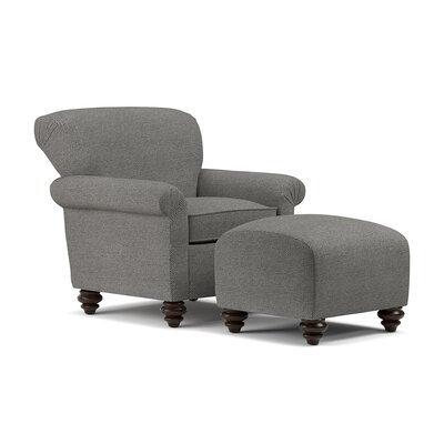 Kight Arm Chair and Ottoman Upholstery: Black