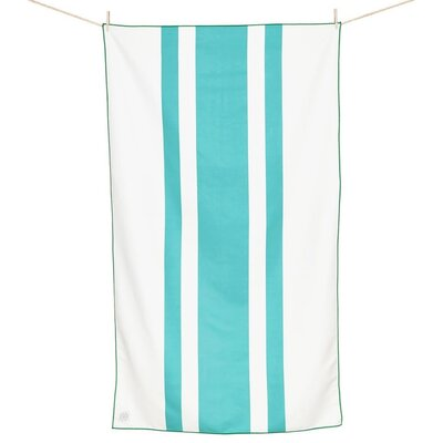 Curtice Microfiber Travel and Beach Towel Color: Emerald Green/Teal