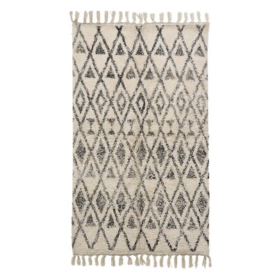 Adamsburg Cotton Black/Beige Area Rug