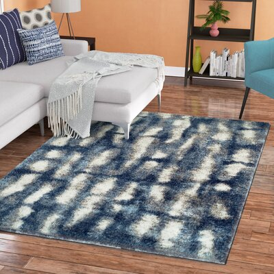 Stanback Indigo Area Rug Rug Size: Rectangle 33 x 51