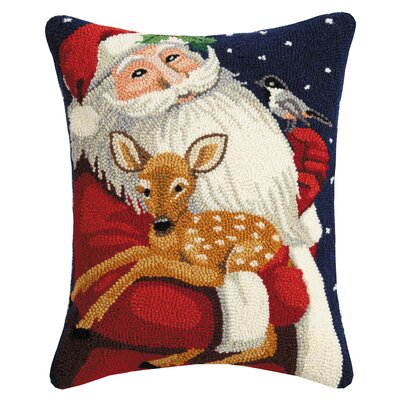 Martines Santa and Fawn Hook Wool Lumbar Pillow