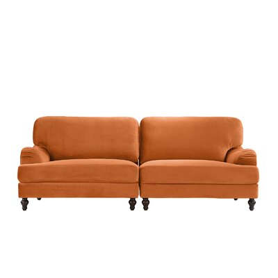 Gayden 2 Piece Convertible Adjustable Modular Sofa Upholstery: Orange
