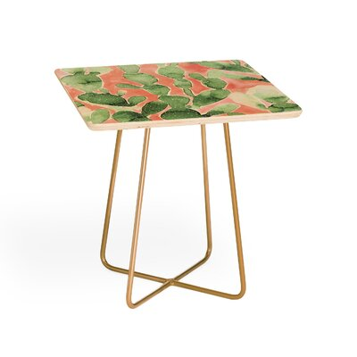 Paddle Cactus Pale Square End Table