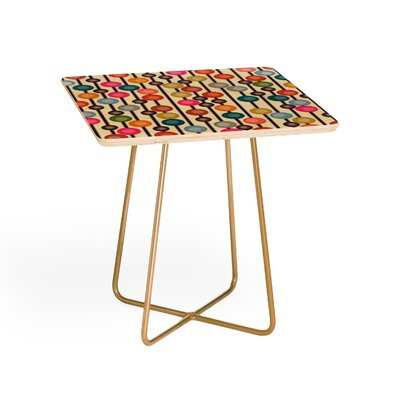 Mocha Chocca Candy Bubbles Square End Table